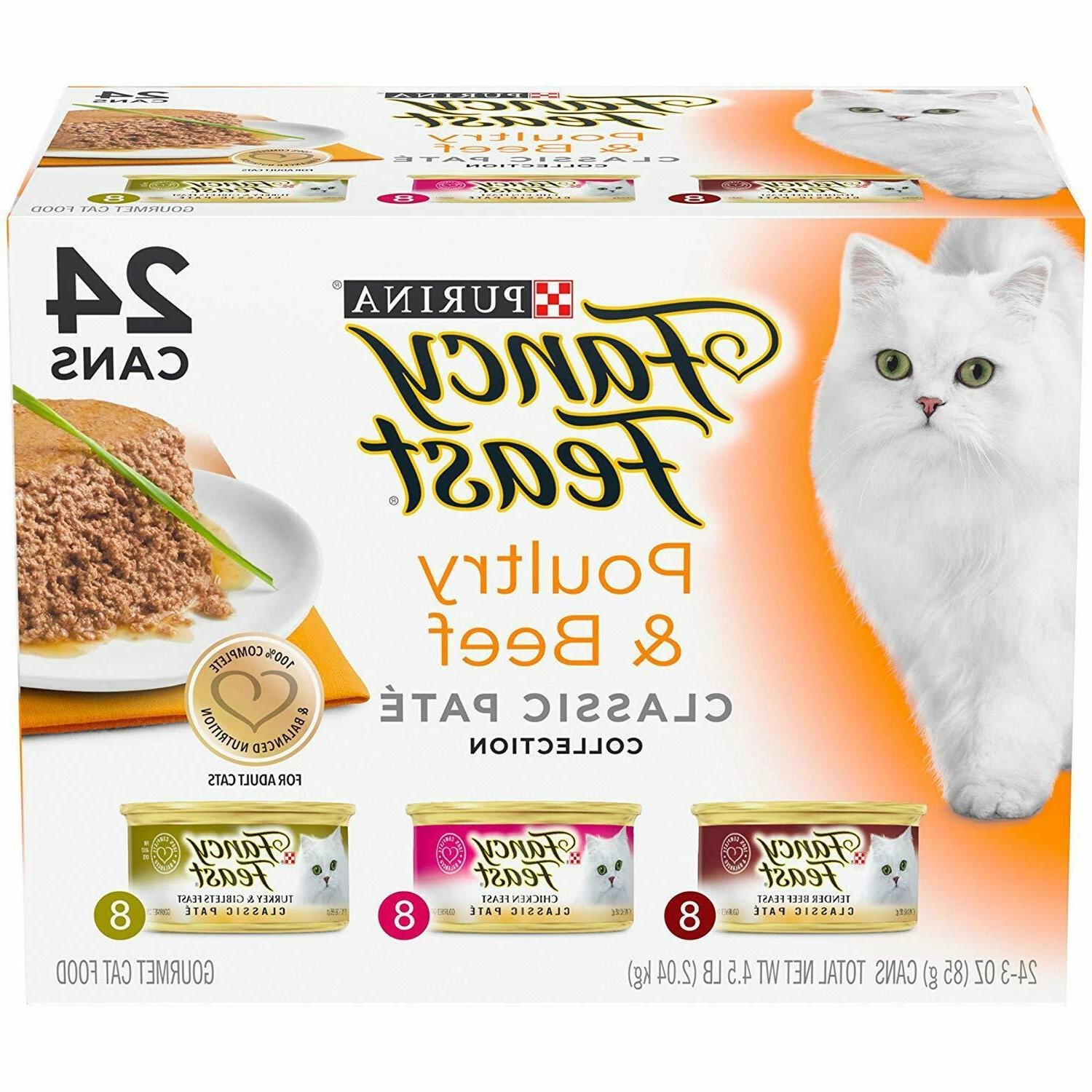 fancy feast poultry and beef wet cat