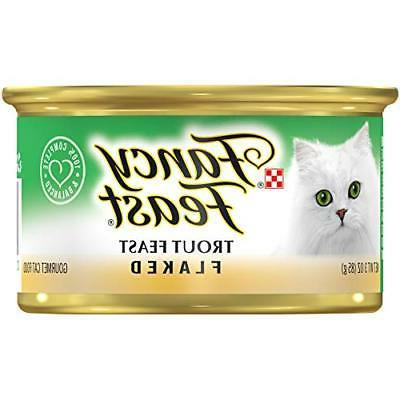 flaked trout feast wet cat food 24