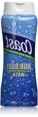 """Coast Hair & Body Wash, Classic """"Pacific Force"""" Scent, 2- 18"""