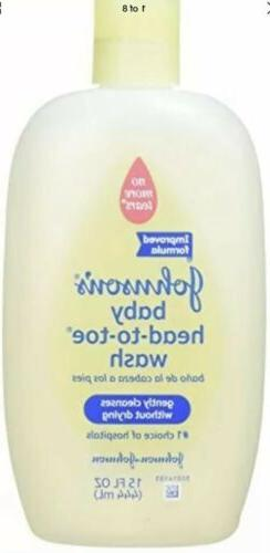 Johnson's Head-to-Toe Baby Wash, 15-Ounce Package