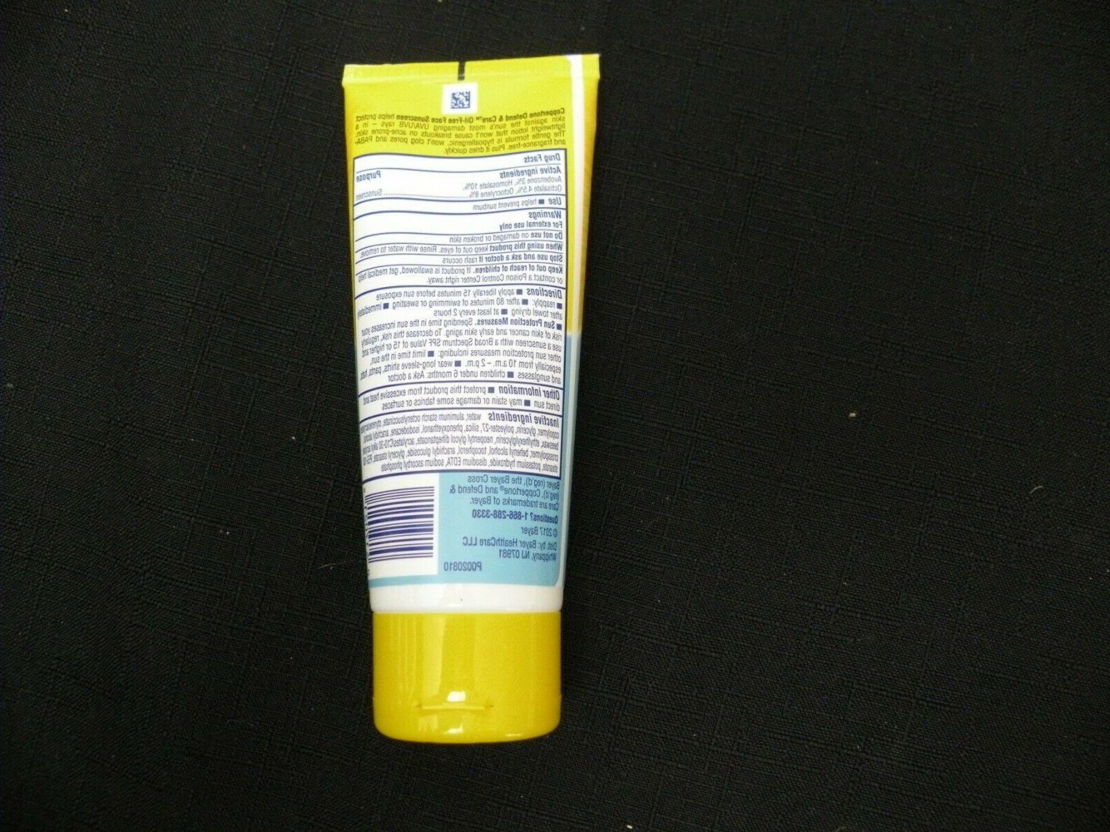 NEW care Face Sunscreen Oil Free 50 3 oz