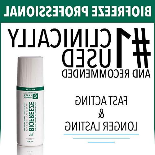 Biofreeze Gel,Topical Enhanced Relief of Muscle, Joint Pain, NSAID Free Cold Roll-On 3 Formula, 5%