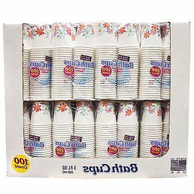 Nicole Paper Dispenser Cups, 3-Ounce, 100-Count, New, Shipp