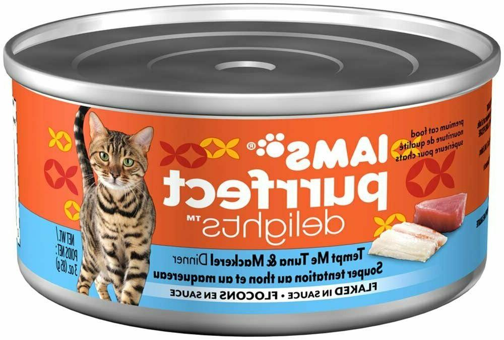 Iams Purrfect Flaked Adult Wet Seafood, 18 PC