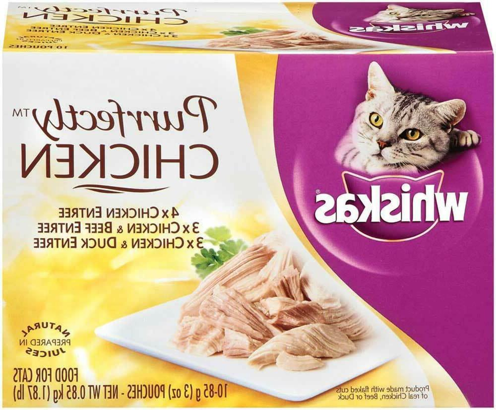 Whiskas Purrfectly Chicken Variety Pack Wet Cat Food,  3-Oz