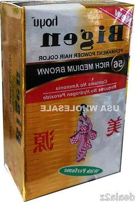 #56 Rich Medium Brown Bigen Hair Dye Powder Color No Amonia