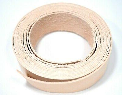 SECONDS: One 2-3oz VEGETABLE TANNED LEATHER Strip  LeatherRu