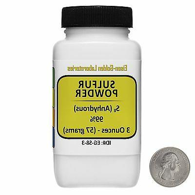 Sulfur Powder  99% ACS Grade Powder 3 Oz in a Space-Saver Bo