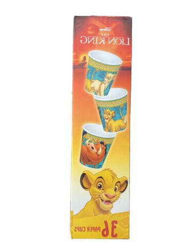 Disney The Lion King Box of 36 3 oz Paper Cups - Bathroom or