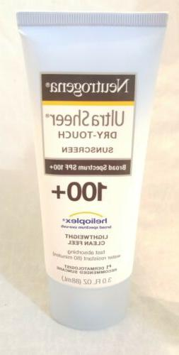 Neutrogena Ultra Sheer Dry-Touch Sunscreen SPF 100 EXP 2022