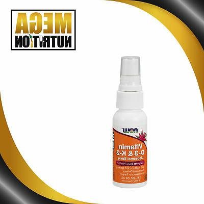 Now Foods Vitamin D-3   and K-2  , Liposomal Spray 2 Fl Oz