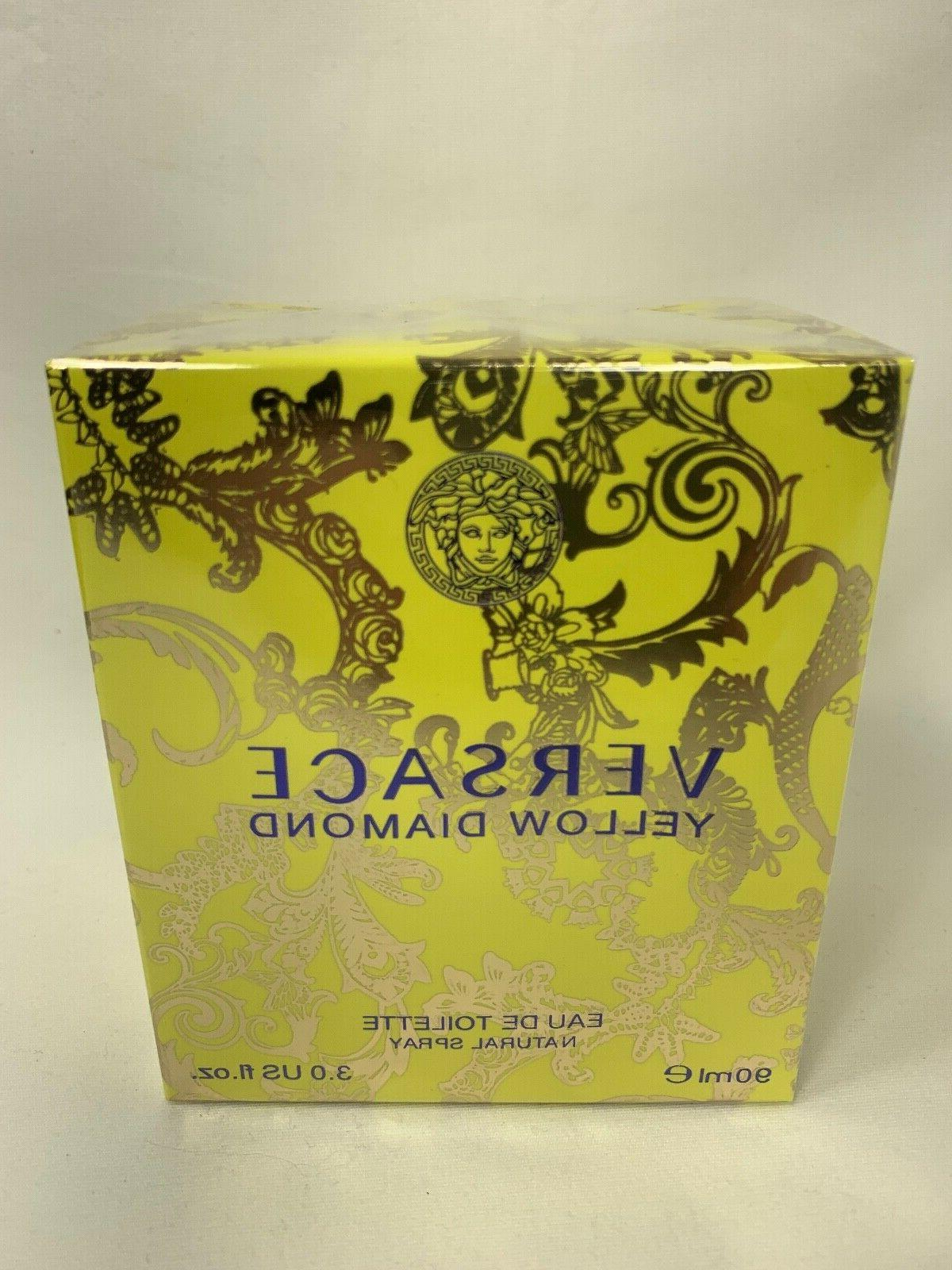 YELLOW VERSACE 3.0 oz EDT SPRAY - NEW SEALED