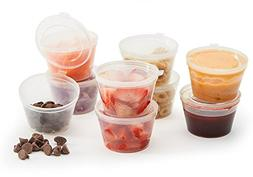 Leak Proof Salad Dressing and Snack Containers with Hinged L