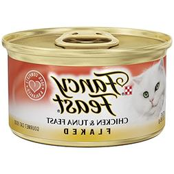 Pack of 24, 3-Ounce Cans, Flaked Chicken & Tuna Feast Wet Ca