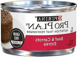 Pate Adult Canned Wet Cat Food, Beef & Carrots Entree  3oz.