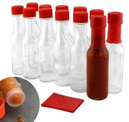 sauce woozy bottles clear glass