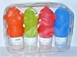 Silicone Travel Bottle Set  TSA FDA Approved Leakproof 4 pac