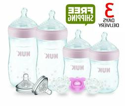 NUK Simply Natural Baby Bottle Newborn Gift Set,  5 Ounce &