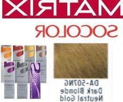 Matrix SoColor Dream Age DA-507NG Dark Blonde Neutral Gold 3