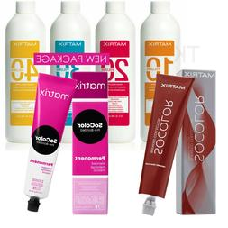 MATRIX SOCOLOR PERMANENT HAIR COLOR 3oz / Creme Developer 3o