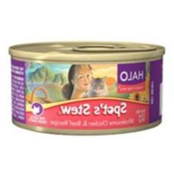Halo Spot's Stew Wholesome Chicken Beef Recipe Canned Cat Fo