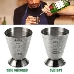 Stainless Steel Measure Cup 75ml <font><b>3</b></font> In 1