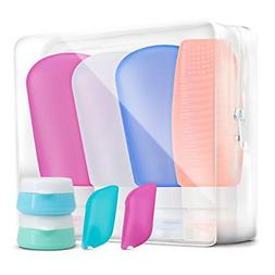 Dreamind Travel Bottles Toiletry Containers - 3oz Silicone T
