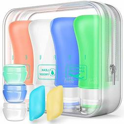 Travel Bottles TSA Approved Containers, 3oz Silicone Leak Pr
