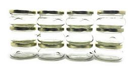 3 oz 100 ml Tureen Clear Glass Jar with Gold Metal Lid by Ri