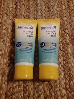 TWO PACK Coppertone Defend & Care Face Clear Zinc Sunscreen