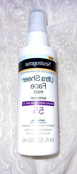 NEUTROGENA ULTRA SHEER SPF#55 FACE MIST 3.4 Ounce 5/2021