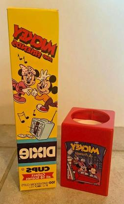 VTG Mickey Mouse Pop Up Dispenser & PKG 3oz Mickey & Minnie