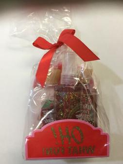 Bath and Body Works Winter Candy Apple Gift Set Wrapped in C